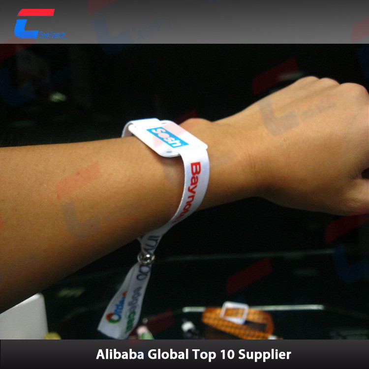 13.56MHz one off woven bracelet rfid for conference access