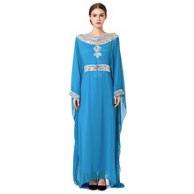 wholesale abaya latest design Women muslim long sleeve arabic kaftan