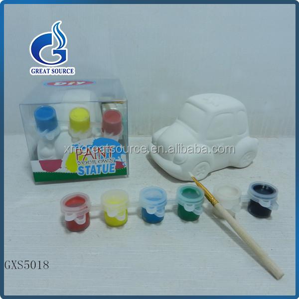 Diy ceramic car painting for kids drawing buy diy for Diy ceramic painting