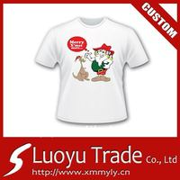 Christmas T-shirt Mens promotional plain cotton t-shirt