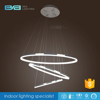 Modern 3 Ring acrylic LED Ceiling Pendant Lamps Fixture DIY Chandelier Lights 2170427