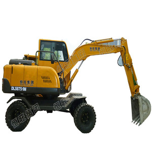 Mini Digger Wheel Hydraulic Excavator ,2t small wheeled excavator