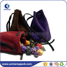 Wholesale Blank Suede Jewelry Gift Bag With Leather Drawstring