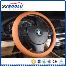 Universal Ultra-thin perforation genuine leather steering wheel cover