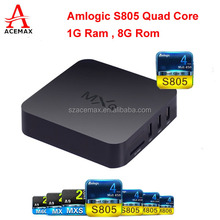 Acemax Android 4.4 KitKat tv box with S805 quad core CPU and 1G Ram 8G Rom