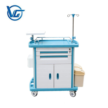 Emergency surgery room medical surgical instrument trolley