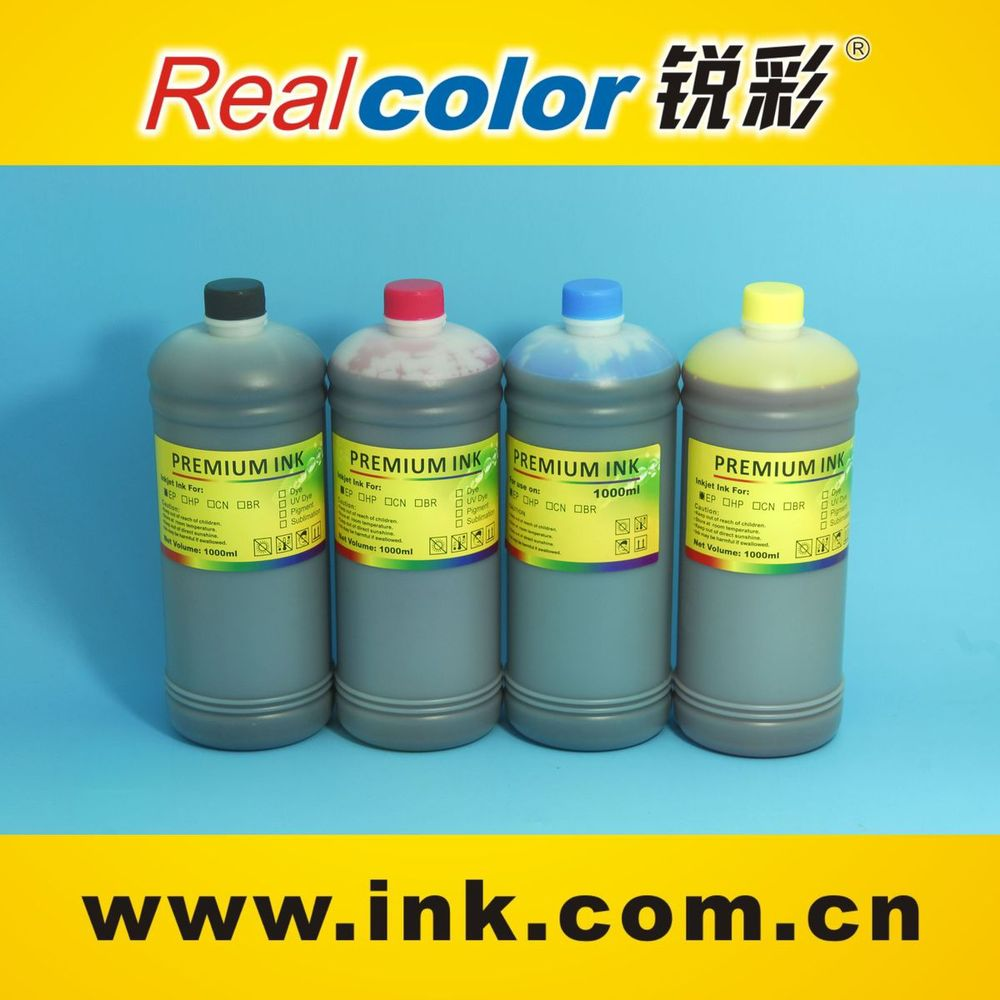 Ink factory wholesale 4 colors 1 litre UV dye ink for Epson printer