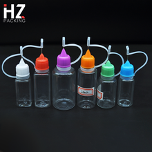 CE Certified 3ml 5ml 8ml 10ml 15ml 20ml 30ml 50ml 60ml 100ml dropper bottle with needle childproof cap