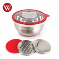 Kitchenware 5 Qt Stainless steel Mixing Bowl Set With Grater