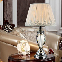 Popular new Europe style LED table lamp for hotel crystal table lamp