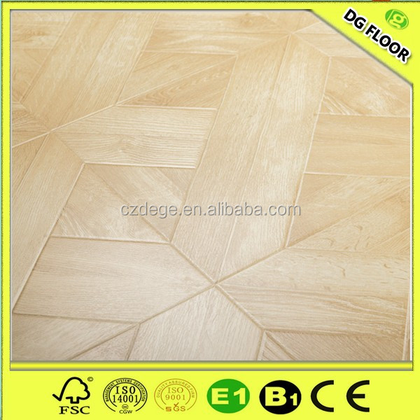 ART Parquet 12mm hdf wood floor tiles floor flower tiles design