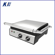 Time control Kitchen appliance electric barbecue grill with grill electric panini press for detachable plate