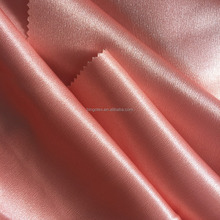 China Wholesale 100%polyester woven high class plain dyed stretch shiny satin fabric