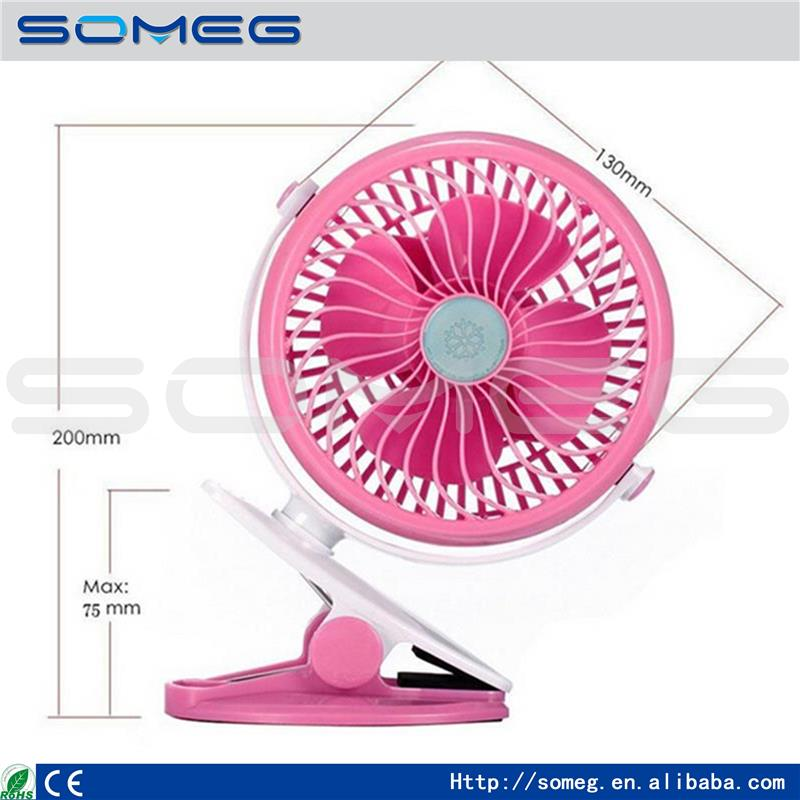 360 Degree Rotation USB or 18650 Battery Powered Portable Super Mute Mini Desk Fan PC USB Cooler Electronic Cooling Fan