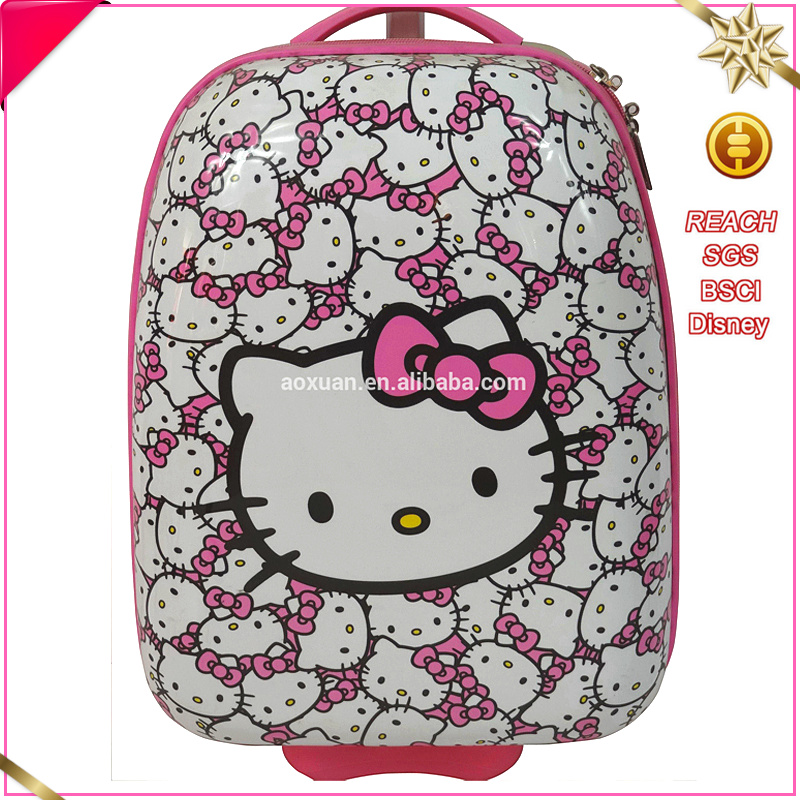 kids school bags carry on hello kitty trolley luggage for children