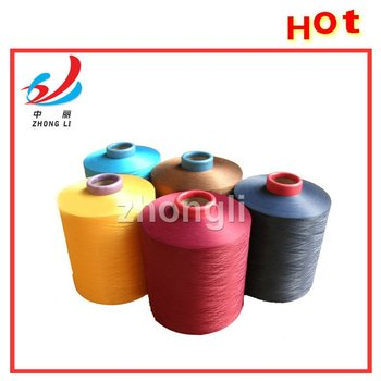 Polyester Yarn DTY Dope Dyed Color top level manufactory