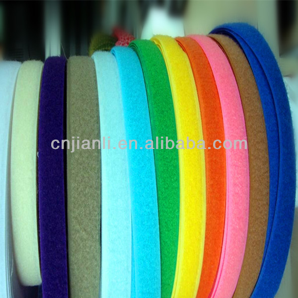 hook and loop tape/ hook loop fastener tape/polyester and nylon quality tape