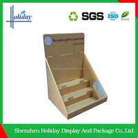 Holiday Advertising Pop Counter Corrugated Display For Watch,Three Tier Counter Cardboard Display,Watch Counter Display