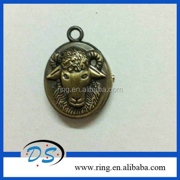 Copper Plating Anime Jewelry Cattle Head Pendant