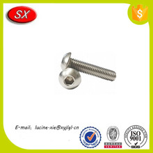 customized stainless steel cnc turning machined anode aluminium button head cap screw