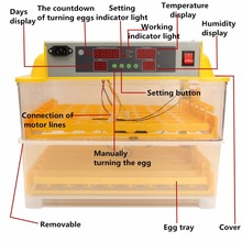 Automatic 112 Digital Chicken Eggs incubator Temperature Control Incubator Turning Hatcher Incubation Tools Accessories
