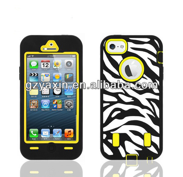 For iphone 5 aztec case,customize popular dual color combo case for iphone 5