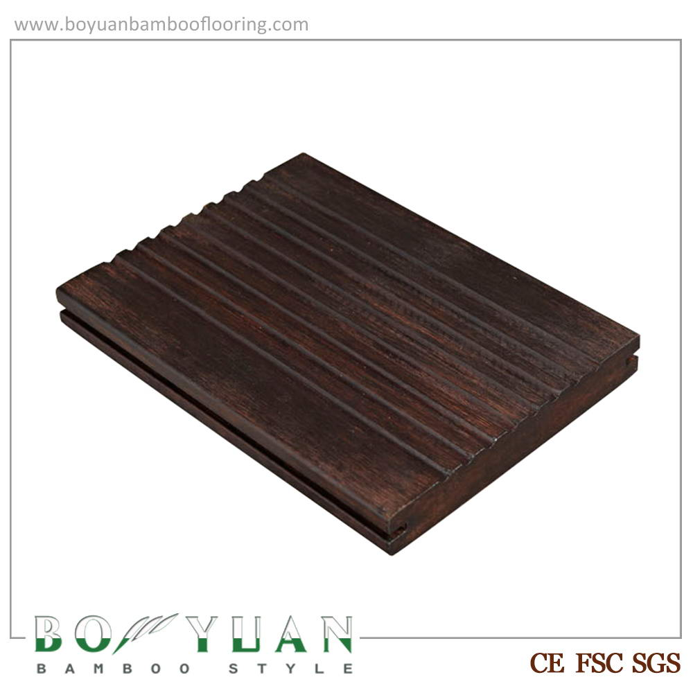BY mold resistance lower price chocolate outdoor bamboo decking