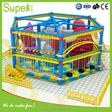 New design mcdonalds indoor playground with bungee trampoline for sale