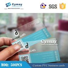 PVC /PP plastic business card