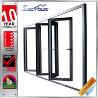 Australia AS2047 standard soundproof lowes glass commercial accordion folding doors