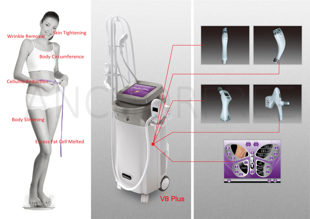 Vacuum+RF+Laser+Rollers V-Shape Machine Lipo Slimming (V8 Plus)