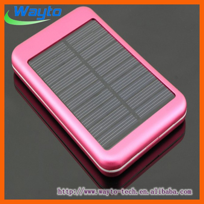 High quality 5000 mah metal housing case mobile solar charger