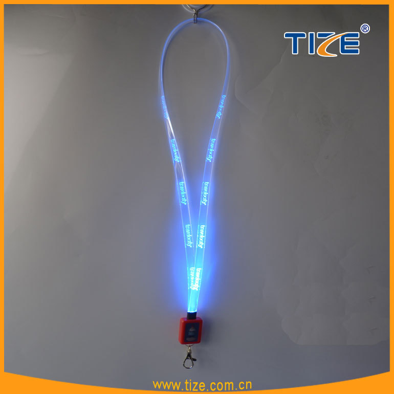 2016 Wholesale custom fiber optics neck lanyard TZ-W350 Led flashing strip
