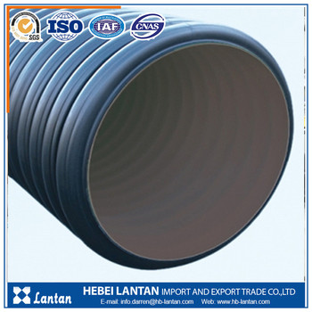 large diameter anti corrosion hdpe corrugated pipe