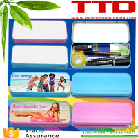 2D Sublimation Pencil Box with Aluminum Sheet , sublimation pencil tin box