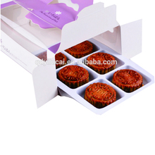 custom cheap apple pie/cookie/egg tart packaging box with handle for 6 cups hot sale in us