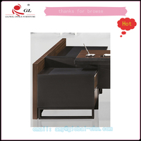 hot sale nice wood desk/office table with part cabinet