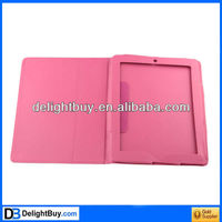 New Folio Magnetic Smart cover Leather Case for iPad 2 rose Pink