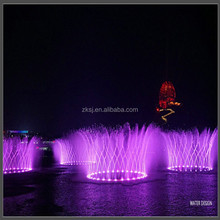 Outdoor engineering project high jet led laser light water music fountain