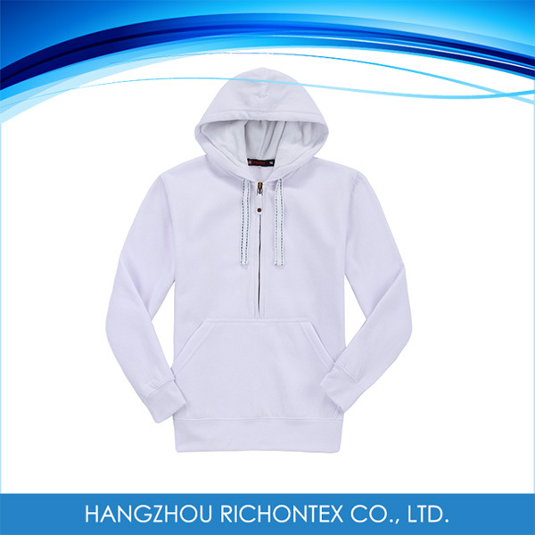 Comfortable Men's Zipper Blank Anti-Pilling Colorful Mens Sweatshirt