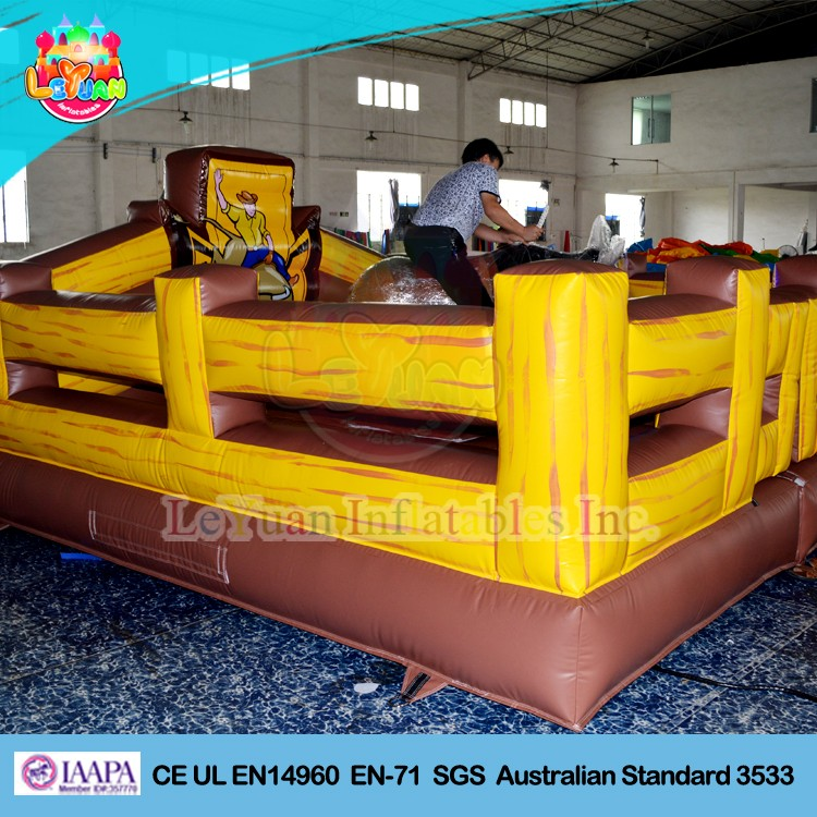 Hot Sale Inflatable Bull Riding Machine / Inflatable Mechanical Bull