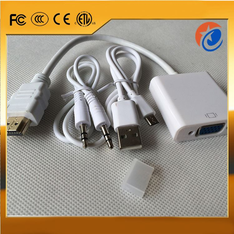 High quality hdmi vga rca converter white hdmi male to vga female