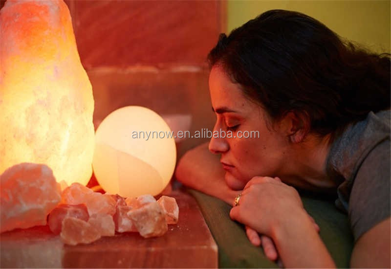 Handmade Natural Amber Crystal Rock Salt lamp for Improving air quality