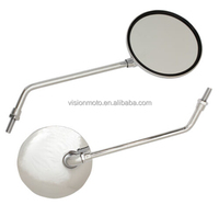 Hot sale metal material chromed E-MARK Certificate Motorcycle Side Mirrors handlebar mirror