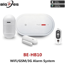 Low cost WiFi alarm system safeguard your home against theft, Alarm With Gas/Fire/Smoke/Water Flood/Door Contact/PIR Sensors