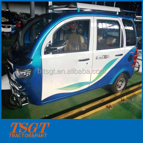 motorcycle passengers taxi 3 wheelers closed cabin newest model come from China lowest price