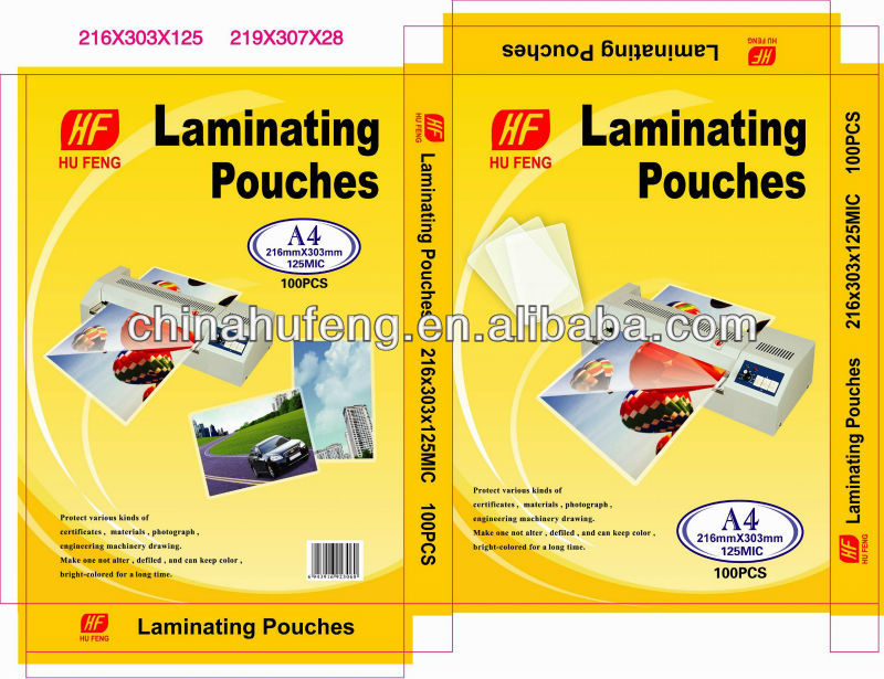 A4 SIZE Laminating pouch film