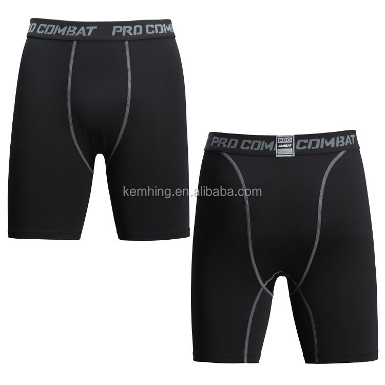 Wholesale sports fitness basketball football mens gym compression shorts gym