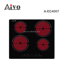 Sensor inductive cooker/ceramic cooking plates, 4 burner cooking range with hot plate