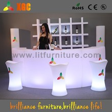 New Arrival Outdoor Illuminated Led Bar Counter moving plastic colorful bar
